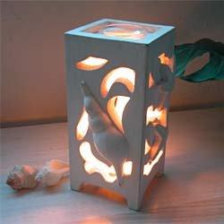 画像1: 海の香りランプ・ホワイトシェル